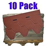 10er Pack Dachschindeln Hexagonal Rot 10x 3,5 m² = 35 m²