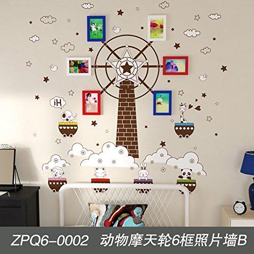 Mur de photos décoration des chambres sont meublées avec creative photo salon grande roue animaux pépinière 6 Fort 6 fort grande roue animaux mur de photos B
