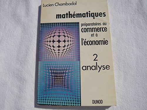 Mathématiques préparatoires au commerce et à l'économie