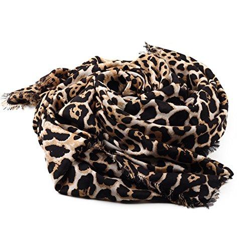 Fascigirl Schal Schal, HalswäRmer Schal mit Leopardenmuster Winter Schal für Frauen (Leopard Tuch)