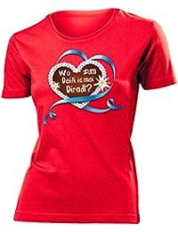 OKTOBERFEST - LEBKUCHENHERZ WO ZUM DEIFI IS MEI DIRNDL? T-Shirt Damen S-XXL