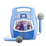 Frozen 2 congelato Boombox MP3 Karaoke per bambini con Bluetooth e spettacolo di luci, microfono incluso