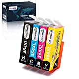 OfficeWorld Cartuchos de tinta para HP 364 364XL, HP Photosmart 5510 5520 5522 6520 B8550 C5388, HP...