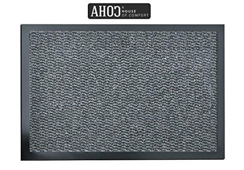 AHOC Premium Fußmatte in attraktiver Optik für Eingangsbereich und Außenbereich in 7 versch. Größe (120x180cm, grau)