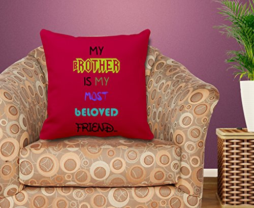TIEDRIBBONS Gift For Brother Cushion Cover (12x12)inch with filler  available at amazon for Rs.299