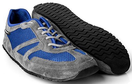 Magical Shoes Explorer Barfußschuhe   Damen   Herren   Jugendliche   Laufschuhe   Zero Drop   Flexibel   Rutschfest, Größen:44/282mm, Farbe:MS Explorer Deep Water - Blau/Grau