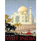 Wee Blue Coo Travel Canadian Pacific Taj Mahal Dia Canada Vintage Advertising Wall Art Print Mur Décor 30 x 41 cm