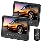 AEG DVD 4555 portabler DVD-Player mit 2X 17,8 cm (7 Zoll) LCD-Monitor, USB-Port, Card Slot, Fernbedienung schwarz