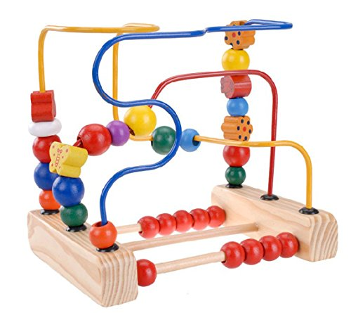 Careshine Perles Educatives jouet Jeu d'éveil Boules Circuit de Motricité en Bois Casse-tête pour Enfant
