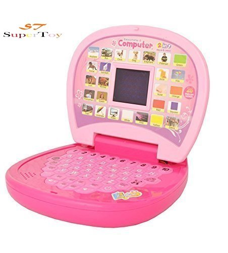 Super Toy ABC and 123 Learning Kids Laptop with LED Display and Music