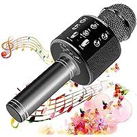 SunTop Wireless Microphone Karaoke, Bluetooth Microphone for Party, KTV,Home, PC/Android/IOS Smartphone, Singging, Karaoke, Recording, Bluetooth speaker