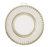 Talking Tables 8 weiß und gold Pappteller, Porzellan Effekt