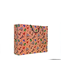 A&A Printed Laminated Paper Bag (Pack Of 10) Size- 13 * 17 * 4 Inch