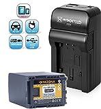 Baxxtar Razer 600 II Ladegerät 5 in 1 + PATONA Qualitätsakku für Canon BP-828 (echte 2670mAh!) -- NEU mit USB Augang für Drittgeräte, wie zum Beispiel Smartphones