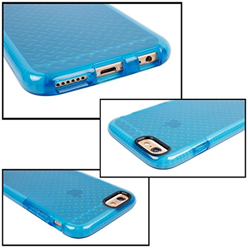 Phone case & Hülle Für iPhone 6 / 6s, Reis Körner Muster TPU Schutzhülle ( Color : Blue ) Dark Blue
