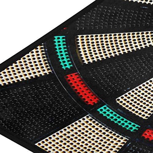 XiangHeFu Teppiche Vintage Spiel Dartscheibe Rad Schädel Weiche 39x20 Zoll Fußmatten Teppich Personalisierte Matte für Küche Wohnzimmer Esszimmer Schlafzimmer Dekorative