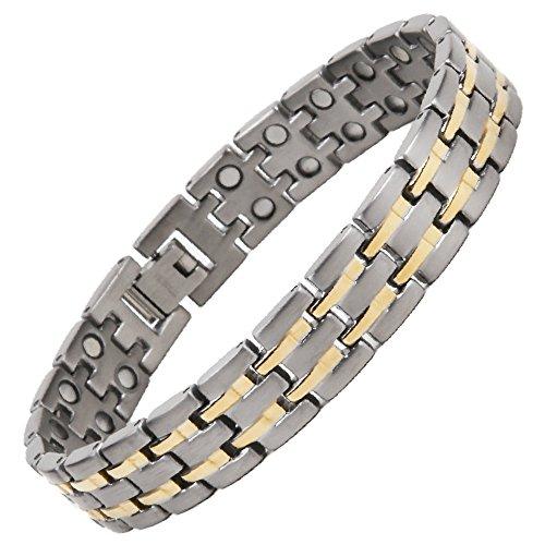 North South Titan TD6zweireihig magnetisch Link Armband mit GRATIS Luxus Geschenkbox und Demontagewerkzeug