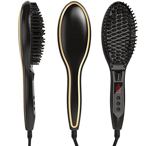 Kosee Beauty Cepillo Alisador Peine Eléctrico para Pelo Encrespado Sedoso
