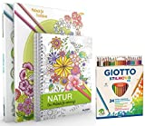 Mein Kreativset: 3 liebevoll gestaltete Malbücher mit 24 hochwertigen Farbstiften: Mit zauberhaften Motiven entspannen und zur inneren Ruhe finden.