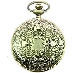 itemstoday Antik Shield Full Hunter mechanischen Hand Wicklung Steampunk Herren Taschenuhr