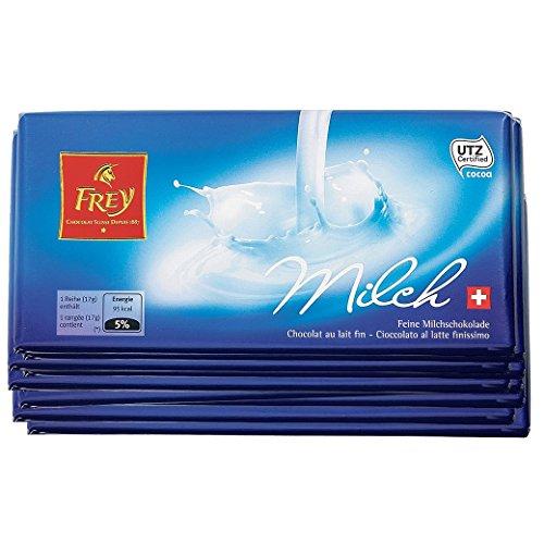 Schokolade - Tafelschokolade - Milchschokolade - 'Milch Spezial 10x100g' von Chocolat Frey Schweiz - 1 Kg, aus dem Traditionshaus Frey