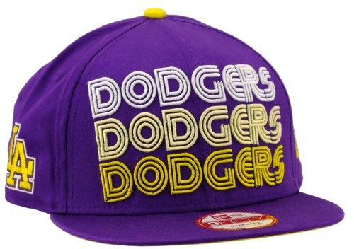 New Era Los Angeles Dodgers Snapback Tri Frontal Deep Purple / Cyber Yellow / White - S-M