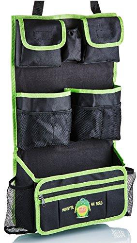 Preisvergleich Produktbild Autositz-Organizer für Kinder. Rücksitz-Tasche für Spielzeug, Utensilo, Rückenlehnenschoner, Getränkehalter und abnehmbare kleine Tasche.von Route 67