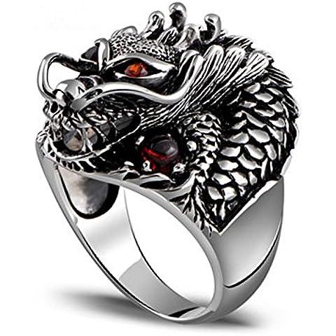 Joyas de la joyería de la ley de Tailandia de Ángel de plata de la joyería de la vendimia anillo de dragón
