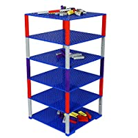 Upgraded Stackable Baseplate Set for Building Bricks including 6 Baseplate in Size 10x10 & 50 Stackers, Compatible with All Major Brands, Thick & Sturdy, Ideal surface for construction & display