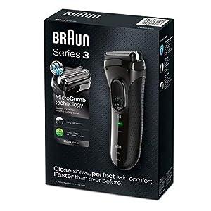 Braun Series 3 Elektrischer Rasierer 3020, schwarz