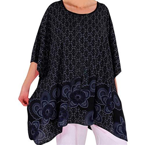 Damen Frühling und Sommer Blouse,Rifuli® Frauen lösen beiläufige O Ansatz-Kurze Hülsen-Druck-T-Shirts Sommer-Hemden Tops Blusen Tun Bekleidung Damen