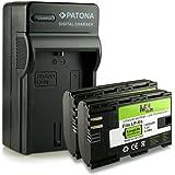 M&L Mobiles Chargeur 4 en 1 Plusieurs connexions dont Micro USB + 2 accumulateurs identiques LP-E6 1300 mAh avec puce informative Compatible avec Canon EOS 5D Mark II, 5D Mark III, 6D, 7D, 60D, 60Da