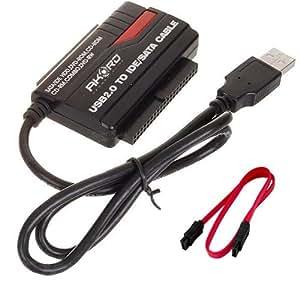 "AKORD Adaptateur convertisseur USB 2.0 lecteur disque dur 2.5"" 3.5"" 5.25"" IDE SATA SATA2"