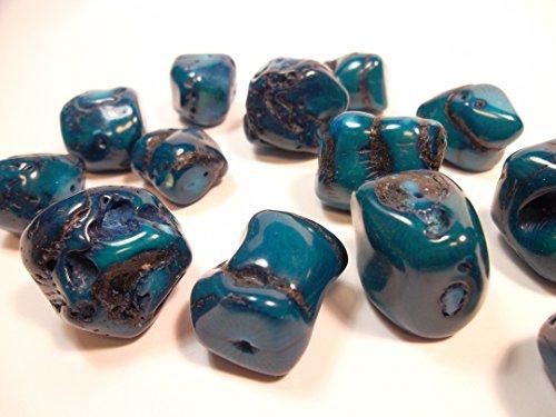 5 Italienische Natur Koralle Große Perlen Indische Saphir Blau Edelstein Naturstein Naturform für Schmuck Kette Basteln Coral Beads G627
