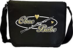 Oboe Babe Oval - Sheet Music Document Bag Musik Notentasche MusicaliTee