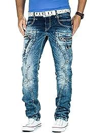 Cipo & Baxx Herren Jeans Dicke Naht Streetwear