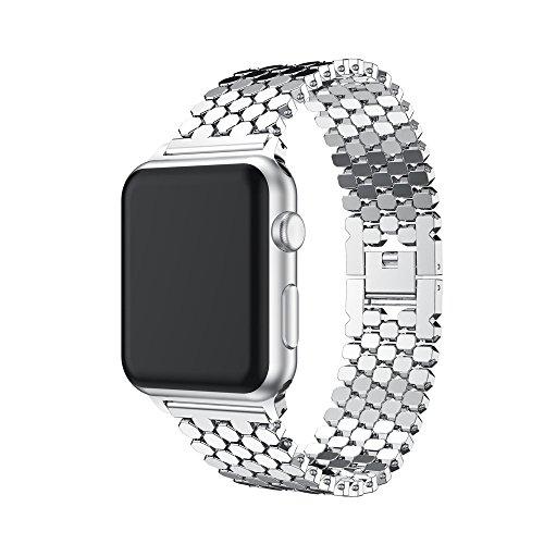 hahuha Watch  Modeuhr,Neuer Edelstahlarmband für Apple Watch Series 3 38MM (Apple Watch Sport Collection)