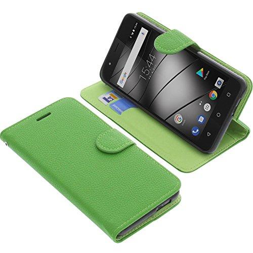 foto-kontor Tasche für Gigaset GS270 / GS270 Plus Book Style grün Schutz Hülle Buch