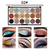 Palette D'ombres à Paupières Mat chatoyante Palette de maquillage imperméable à l'eau 18 couleurs chatoyante highlighter...