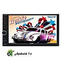 Android 7.1 Stereos 7 inch Touch Screen Doulbe din GPS Car Head Unit Octa Core Auto Radio Audio Receiver in Dash 1080P Video Sat Navi Wifi Bluetooth RDS SD/USB/4G/3G/OBD2-Best Car Radio