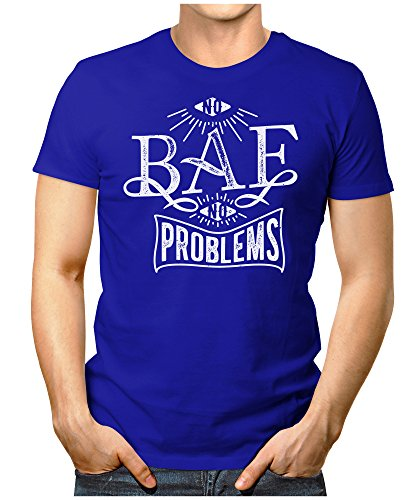 PRILANO Herren Fun T-Shirt - BAE PROBLEMS - Small bis 5XL - NEU Blau