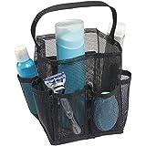 mDesign – Organizador de baño para productos de higiene personal – Neceser de baño de malla – Organizador de maquillaje...