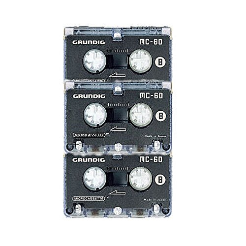 Microcassette MC-45, für Analog-System, 3er Pack