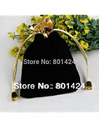 Generic Red : 15Pcs 80-54 12x9cm Velvet Drawstring Pouch Bag/Jewelry Bag,Christmas/Wedding Gift Bag