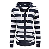 Eleery Damen Kapuzenpullover Hoodie Jacke Sweatjacke Sweater Sweatshirt mit Kapuze