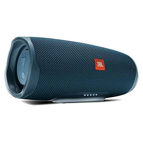 Foto JBL Charge 4 Connect+ e Bass Radiator Speaker Bluetooth Portatile, Cassa Altoparlante Waterproof IPX7 con Microfono, Porta USB, fino a 20 h di Autonomia, Blu