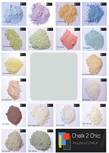 Chalk 2Chic Pulverkreide / Farbe zur Selbstherstellung, 312g für bis zu 2Liter Farbe, Shabby Chic-Möbel, ökologisch, Farbe: Azzurro Blue, CP1