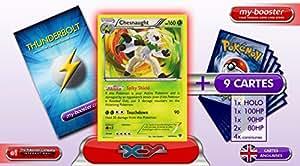 CHESNAUGHT (Blindépique) holo 14/146 160HP - Booster optimisé ATTAQUE ECLAIR - 10 cartes ANGLAISES pokemon XY