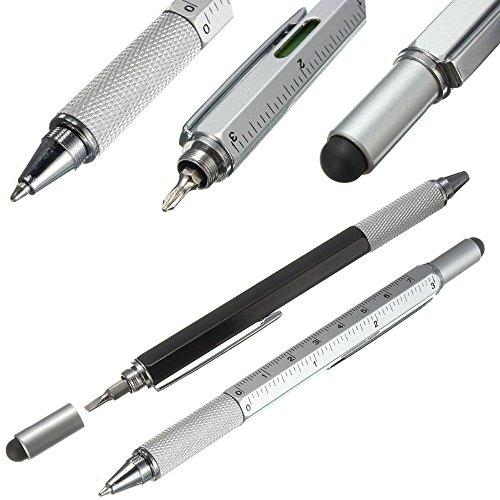 80Store Portable 4 in 1 Kugelschreiber mit Lineal, Wasserwaage, Kugelschreiber, Schraubendreher,...