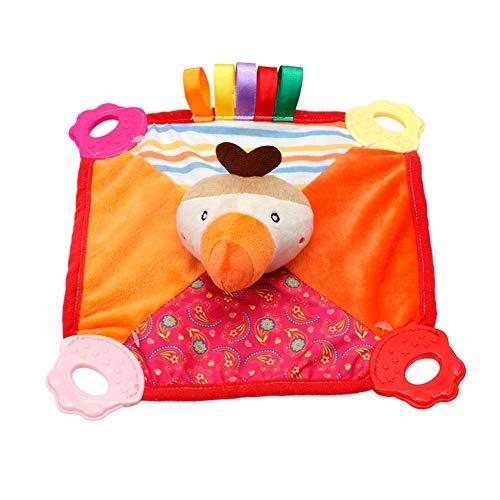 Baby Comforting Taggies Decke Kuscheltier Quietscht weichen Platz Plüsch Baby Appease Handtuch Sicherheitsdecke 1pc Vogel -